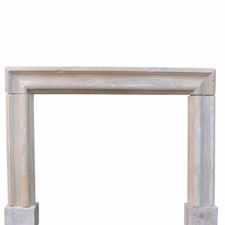 Antique English Limestone Bolection Fire Surround