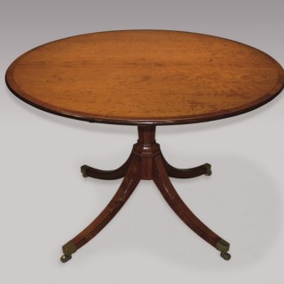 Late 18th Century Sheraton Period Satinwood Breakfast Table