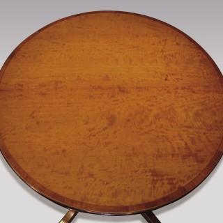 Late 18th Century Sheraton Period Satinwood Breakfast Table