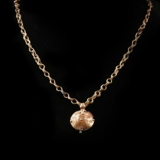 Roman Gold Necklace with Bulla Pendant