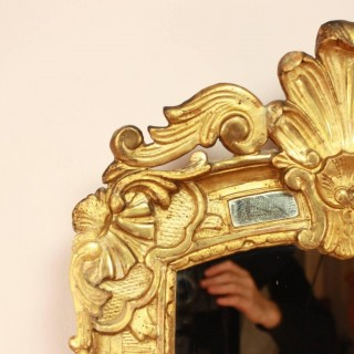 Small Early 18th Century Regence Giltwood Mirror