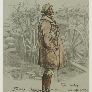 Snaffles WWI Military Print, The Gunner