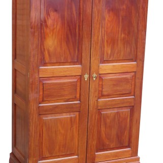 18th Century Mahogany Channel Islands Antique Wardrobe