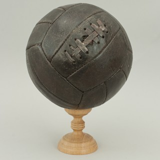 Vintage Football, Dark Brown Leather Soccer Ball