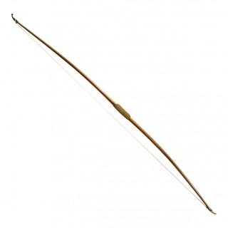 Vintage Yew-wood Long Bow by Bown, Leamington Spa.