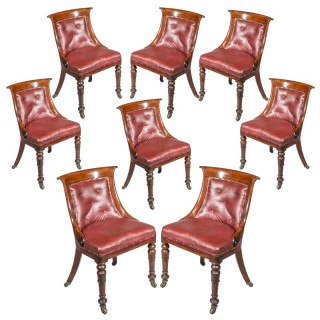 Set of Eight Regency Club Chairs
