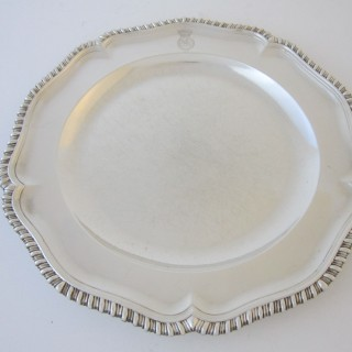 Antique George III Sterling silver dinner plates