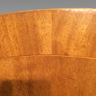A large Geo III oval mahogany pedestal dining table.