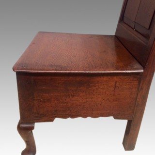 18th century Welsh oak cabriole leg nursing chair.