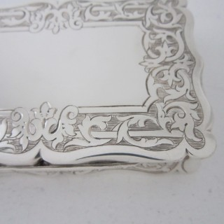 Antique Victorian Sterling silver snuff box