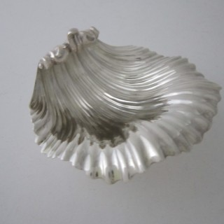 Antique William IV Sterling silver shell dish