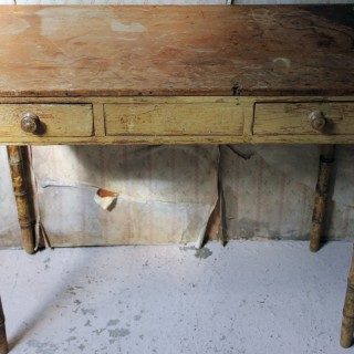 A Regency Painted Pine Simulated Bamboo Side Table c.1820