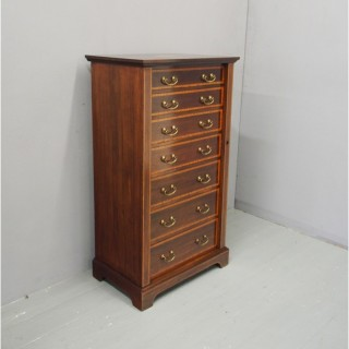 Sheraton Style Inlaid Mahogany Wellington Chest