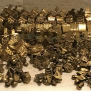 Large Collection of Brass Castors