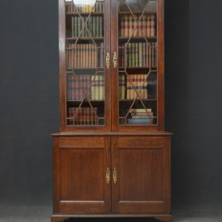 George II Oak Bookcase