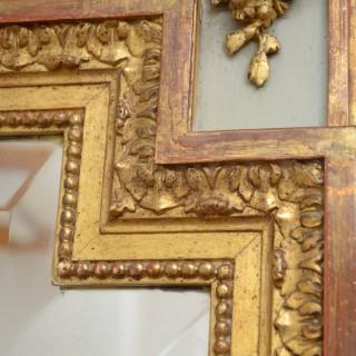 Large 19th Century Trumeau Mirror H195cm