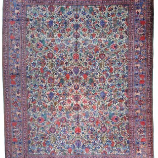 Antique Kashan carpet, Dabir workshop