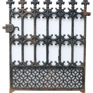 Antique Cast Iron Garden Gate