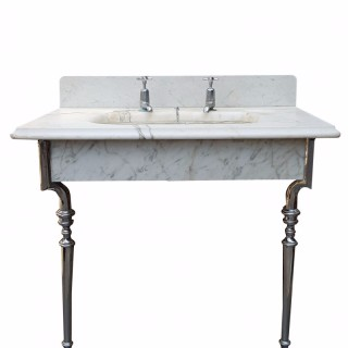 Reclaimed Antique Marble Wash Basin / Sink