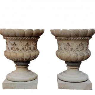 Pair Of Fine Pulham & Son Stoneware Urns