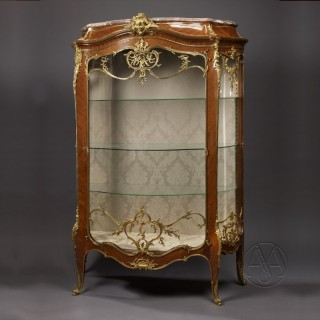 An Important Louis XV Style Exhibition Bombé Vitrine