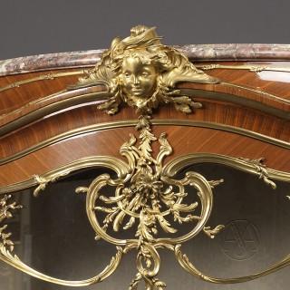 An Important Louis XV Style Exhibition Bombé Vitrine