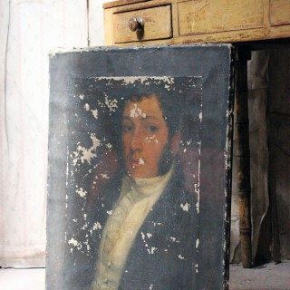 A Mid-19thC Oil on Canvas Portrait of a Gentleman c.1840