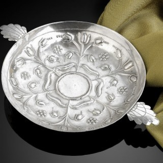 17th Century Silver Sweetmeat Dish