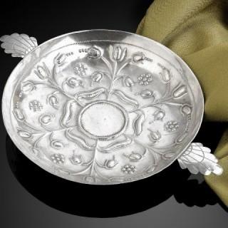 17th Century Silver Sweetmeat Dish