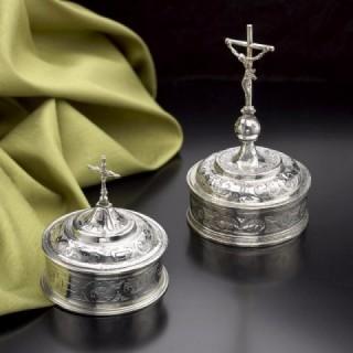 Two Portuguese Silver Pyx
