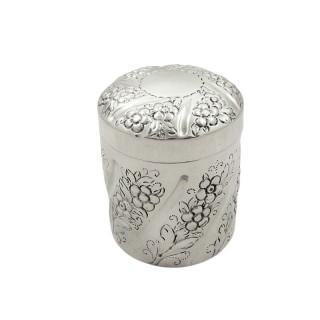 Antique Edwardian Sterling Silver Vanity Pot 1902