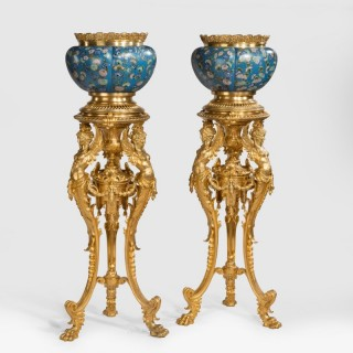 An Important Pair of Jardinières on Stands of the Belle Époque Period