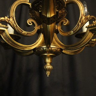 French Gilded Bronze 9 Light Antique Chandelier