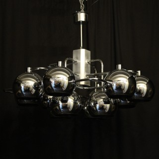 Italian Gaetano Sciolari 12 light chandelier