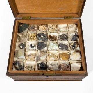 A fine Victorian collection of minerals
