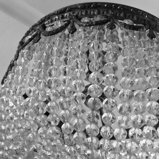 A PAIR OF FRENCH BAG CHANDELIERS