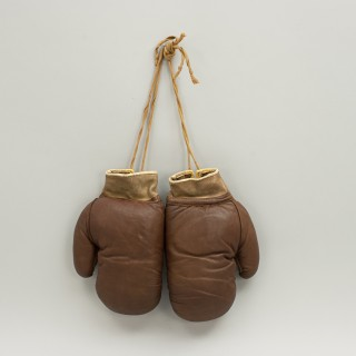 Leather Boxing Gloves 1940's