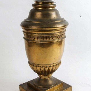 Large 19th century French gilt-brass lidded Potpourri urn