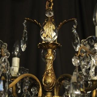 Italian Gilded 12 Light Antique Chandelier