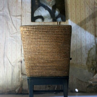 An Early 20thC Painted Pine & Rush Child's Orkney Armchair by D.M. Kirkness & Liberty & Co. c.1910-20