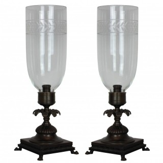 A PAIR OF REGENCY STYLE STORM SHADES