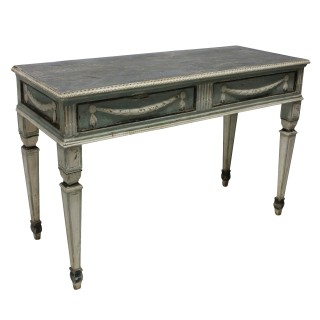 A PAIR OF LARGE 18TH CENTURY SWEDISH CONSOLE TABLES