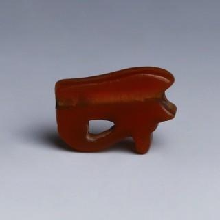 Egyptian Carnelian Wedjat Amulet