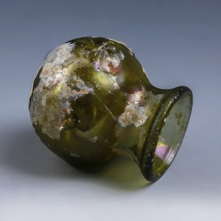 Roman Green Glass Jar