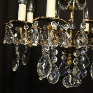 French Pair Gilded Bronze Antique Chandeliers