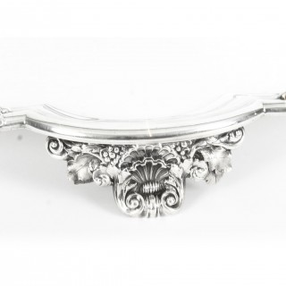 Antique Large William IV Silver Tray Salver by Paul Storr 1837 19th Century