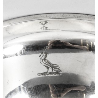 Antique Silver Plated Wine Funnel by Elkington C1870 19th Century
