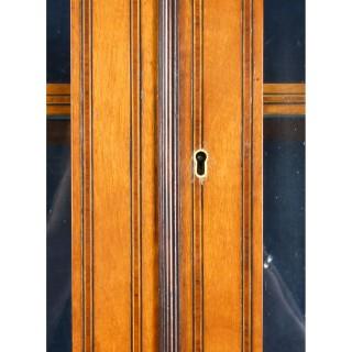 Antique English Sheraton Revival Satinwood Corner Cabinet c.1890 19th C