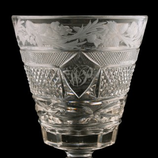 Georgian Cut & Engraved Rummer