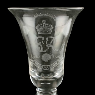 George VI Coronation Coin Goblet